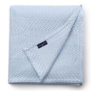 Lexington - Structured Cotton Bedspread Light Blue 160x240cm