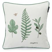 Lexington - Leaf Sham White/Green 50x50cm