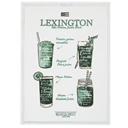 Lexington - Printed Kitchen Tea Towel White/Green 50x70cm