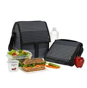 Packit - Freezable Deluxe Bag Gray Stripe