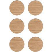 Ary Home - Viventium Oak Coaster Set 6pce