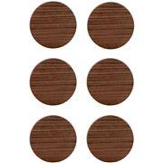 Ary Home - Viventium Coaster Set Walnut 6pce