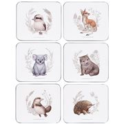 Ashdene - Little Aussie Friends Coaster Set 6pce