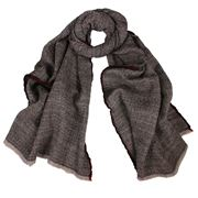 DLUX - Sisemic Washed Wool ZigZag Scarf Black
