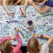 Eat Sleep Doodle - World Map Tablecloth