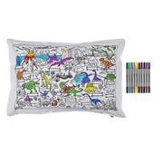 Eat Sleep Doodle - Dinosaur Pillowcase