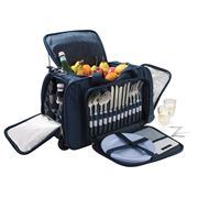 Avanti - Four Person Picnic Trolley Bag Blue Stripe