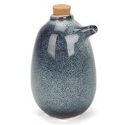 S & P - Nomad Oil/Vinegar Bottle Blue Dappled 220ml