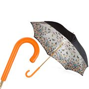 Pasotti - Umbrella Double Cloth Butterfly Leather Handle Ora