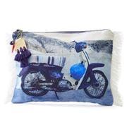 Med Blue - Firopotamos Moto Canvas Pouch
