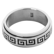 Ferrissimo - Keylock Black Etched Ring Size W