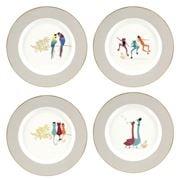 Portmeirion - Sara Miller Piccadilly R/2 Cake Plates Set 4pc