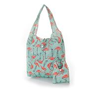 Eco-Chic - Foldaway Shopper Flamingo Green