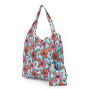 Eco-Chic - Foldaway Shopper Poppies Sky Blue