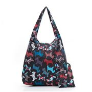 Eco-Chic - Foldaway Shopper Scotty Dog Black