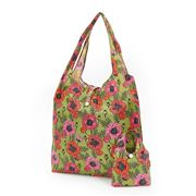 Eco-Chic - Foldaway Shopper Poppies Green