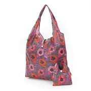 Eco-Chic - Foldaway Shopper Poppies Purple