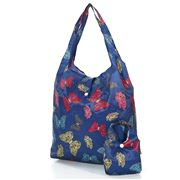 Eco-Chic - Foldaway Shopper Butterflies Navy