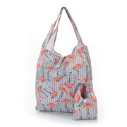 Eco-Chic - Foldaway Shopper Flamingo Grey