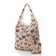 Eco-Chic - Foldaway Shopper Chickens Cream