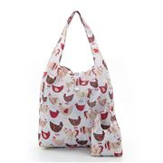 Eco-Chic - Foldaway Shopper Chickens White