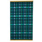 Donna Wilson - Rain Drops Bath Towel Multi Green 70x125cm