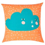 Donna Wilson - Cloudy Face Orange Cushion 45x45cm