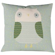 Donna Wilson - Owl Cushion Duck Egg Blue 45x45cm
