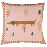 Donna Wilson - Sausage Dog Cushion Pink 45x45cm