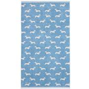Emily Bond - Dachshund Blue Bath Towel
