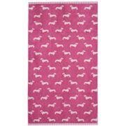 Emily Bond - Dachshund Pink Bath Towel