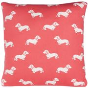 Emily Bond - Dachshund Pink Cushion 45x45cm