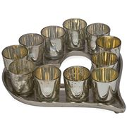 Chehoma - Votives & Heart Plate Set 12pce