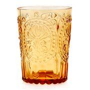 Van Verre - Fleur De Lys Glass Large Amber 300ml