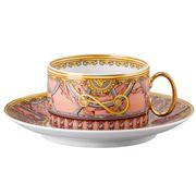 Rosenthal - Versace Scala Palazzo Rosa Low Teacup & Saucer