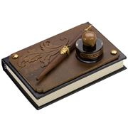 Rubinato - Nibholder W/Ink Wooden Board Notebook Set 3pce