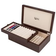 Renzo - Thesius Brown Leather  Box for 24 Pens