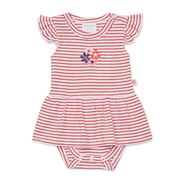 Marquise - Red Stripe Dress & Attached Bloomer Size 00