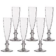 Baci Milano - Lounge Champagne Flute Set Clear 6pce