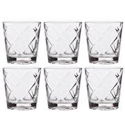 Baci Milano - Lounge Water Glass Set Clear 6pce