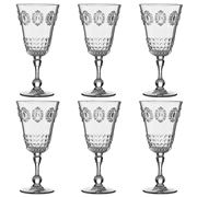 Baci Milano - Baroque & Rock Wine Glass Set Clear 6pce