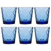 Baci Milano - Lounge Water Glass Set Blue 6pce