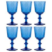 Baci Milano - Lounge Blue Concept Wine Glass 6pce Set