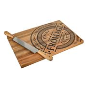S & P - Fromage Cheese Board w/Double Handle Knife