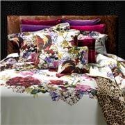 Roberto Cavalli - Floris Silk Cushion White 40x40cm