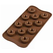 Silikomart - 3D Silicone Mould Choco Crown Brown