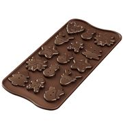 Silikomart - Christmas Choco Buttons Silicone Mould Brown