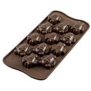 Silikomart - Easter Friends Silicone Mould Brown