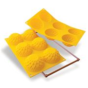 Silikomart - Dahlia Silicone Mould 6 Cup Yellow