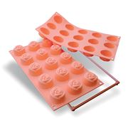 Silikomart - Small Rose Silicone Mould 15 Cup Peach
